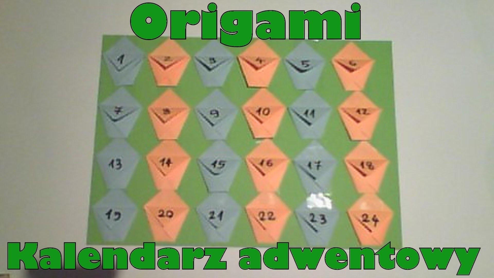 Origami - Kalendarz adwentowy