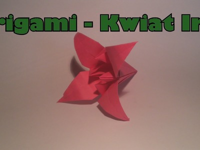 Origami - Kwiat Irys