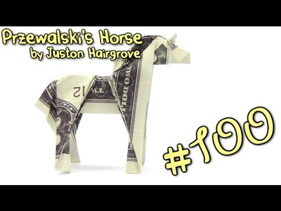 Origami Money Horse  Przewalski's by Juston Hairgrove  - Yakomoga dollar Origami tutorial