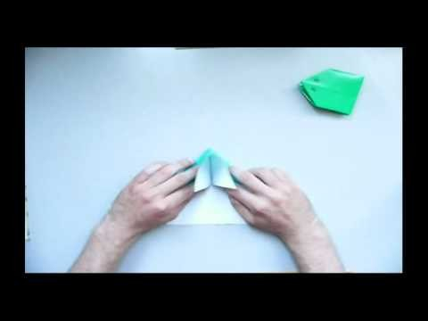 Origami - Skaczaca zaba (jumping frog)