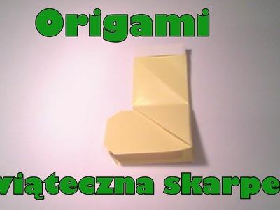 Origami - Świąteczna skarpeta
