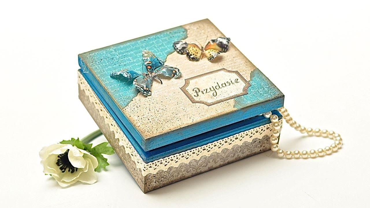 Pudełko z sospeso i papierem do scrapbookingu DIY  tutorial