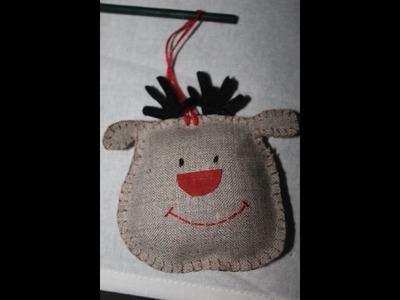 Renifer czerwononosy ozdoba świąteczna DIY tutorial ozdoby choinkowe