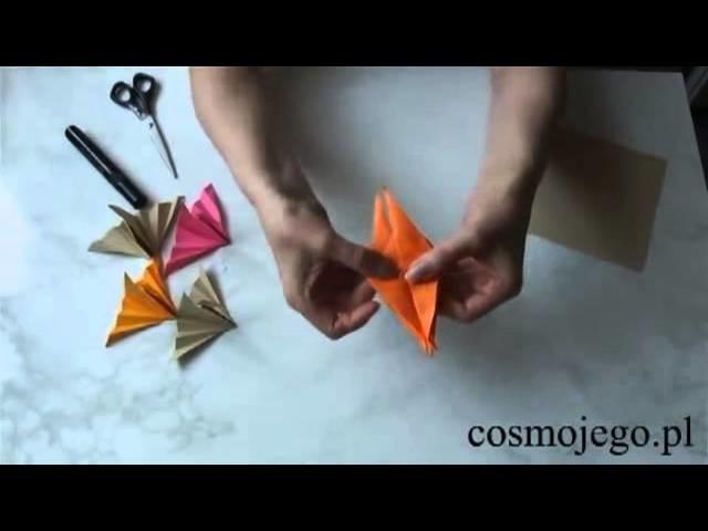 Siedzący żuraw - origami