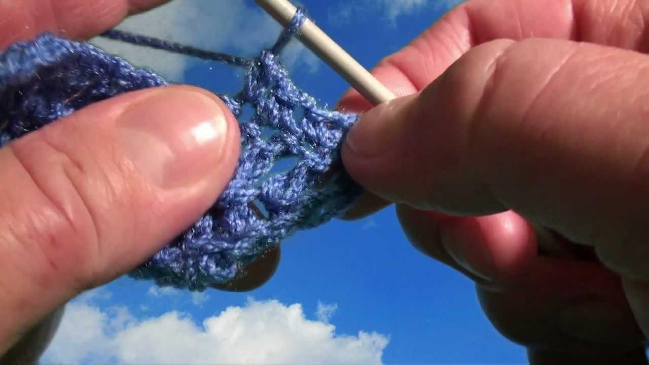 Video kurs szydełkowania PÓŁSŁUPEK - nowa wersja z napisami. How to  single crochet stitch.