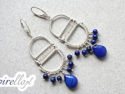 Wire wrapping tutorial - kolczyki
