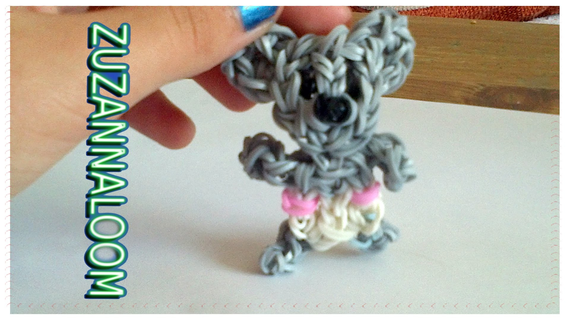 Zwierzaki dzidziusie z gumek jak zrobić z loom misia koala