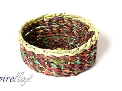 Papierowa wiklina - jak zrobić okrągły koszyczek