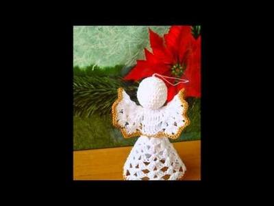 Aniołki szydełkowe -piękne