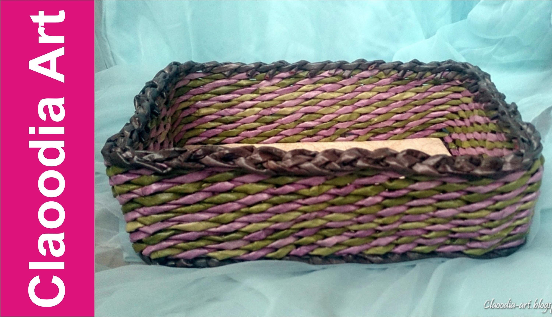 Jak zrobić prostokątny koszyk z papierowej wikliny? [basket, paper wicker] (Claoodia Art)