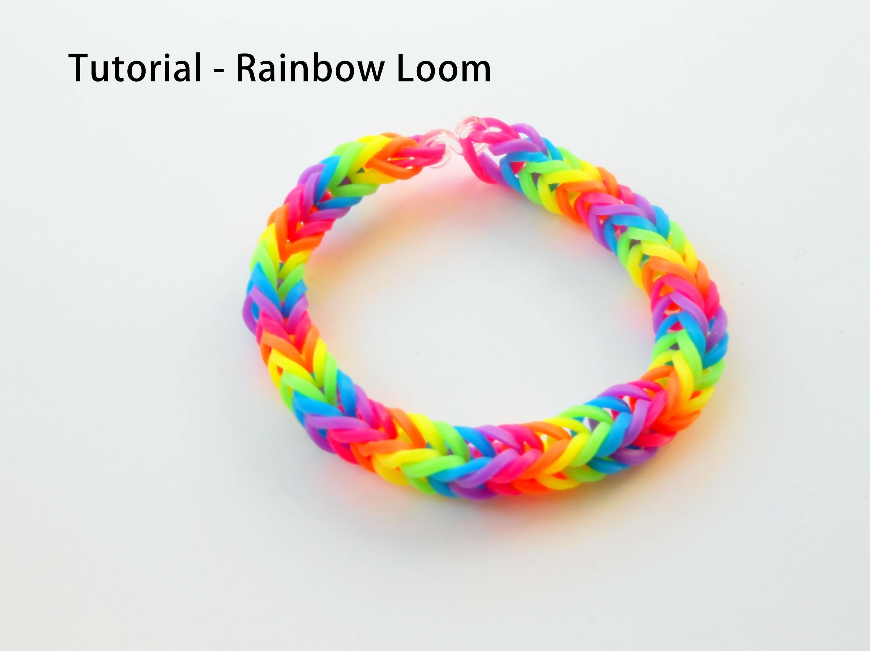 Tutorial na bransoletkę Rainbow Loom - fishtail