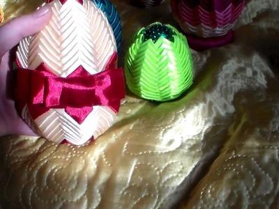 Jajka Wielkanocne ze wstażki i z cekinów