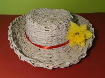 Papierowa wiklina - jak zrobić kapelusz