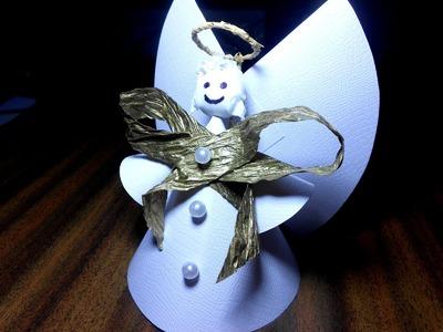 Świąteczny Aniołek z papieru