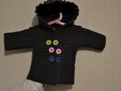 Płaszczyk. Sweter cz 2 na szydełku każdy rozmiar - bardzo prosty