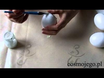Jak ozdobić styropianowe jajka - ozdoby wielkanocne