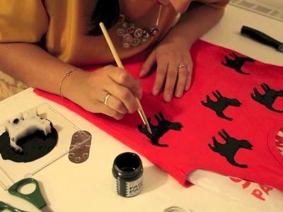 DIY motyw na koszulkę, koszulka w koty- Modowe DIY