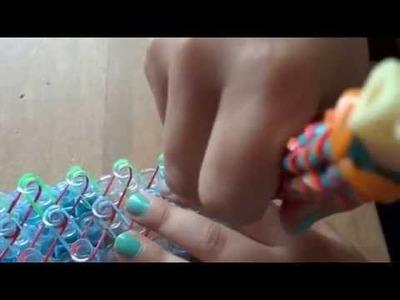 Lekcja 4 bransoletki z gumek rainbow loom