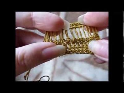 Maranta i szydełko - wyciągane pętelki ażurek
