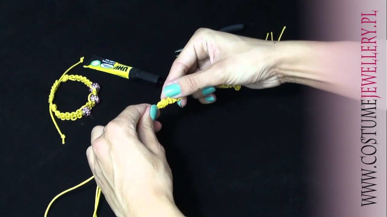 DIY - Jak zrobić bransoletkę Shamballa na komponentach www.customjewellery.pl