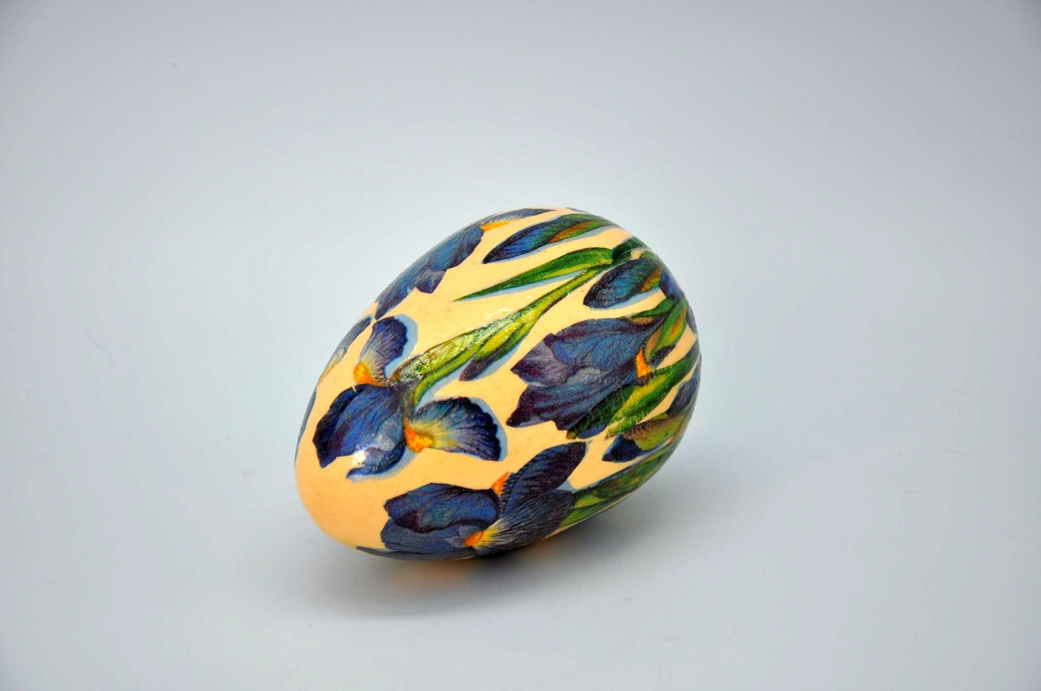Pisanka decoupage z irysami # Easter egg DIY