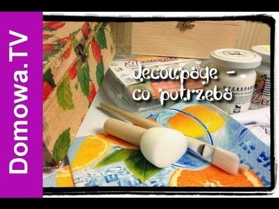 Decoupage - jak zacząć | Domowa.TV