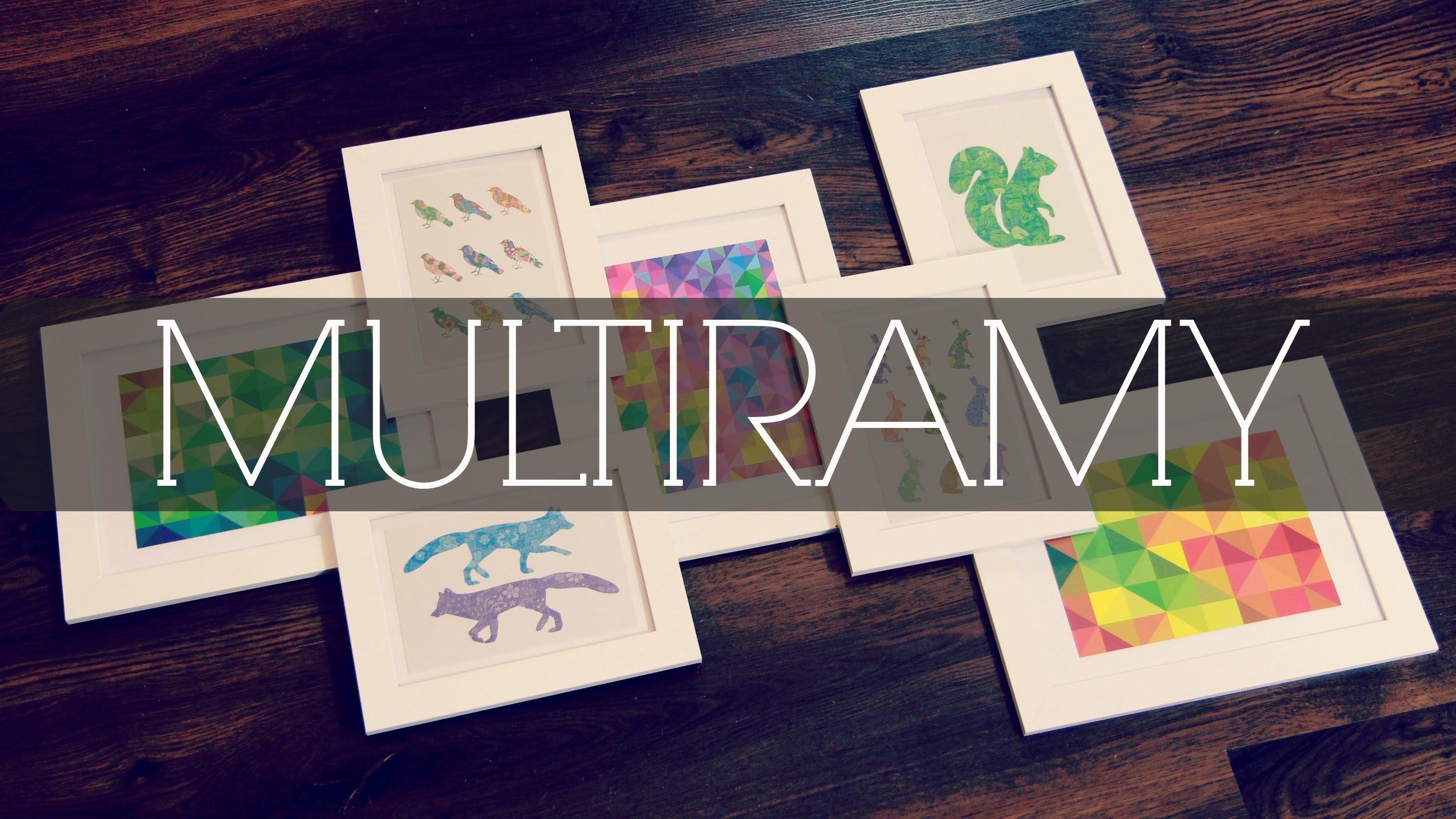MULTIRAMY DIY | POMYSŁ NA DOMOWĄ GALERIĘ