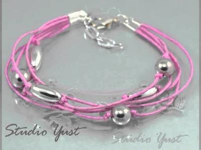 Różowe bransoletki Studio Yust