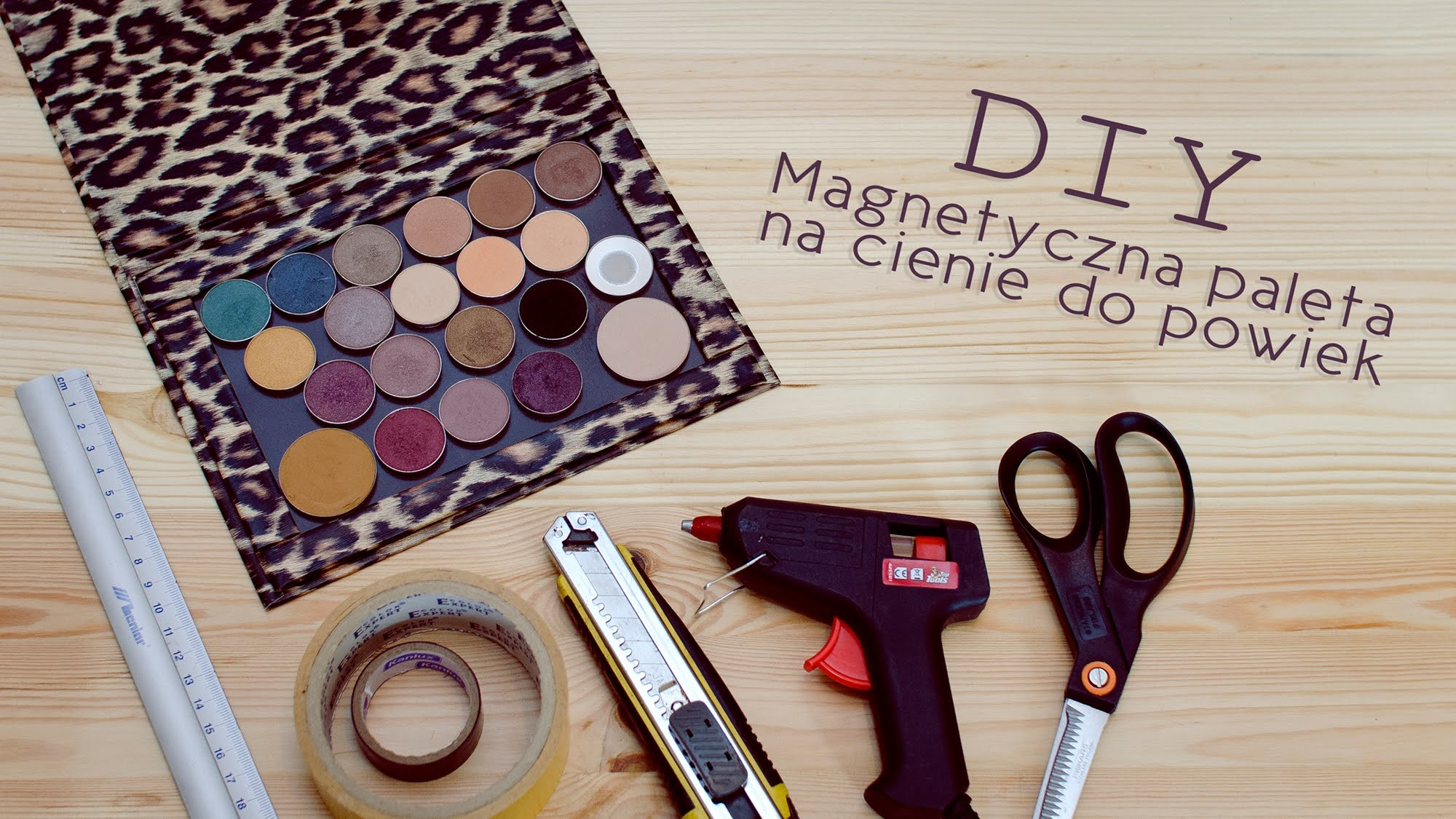 DIY ** Magnetyczna paleta na cienie do powiek ** a'la Z Palette