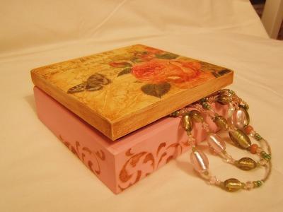 Decoupage krok po krok - pudełko z pastą pękającą  Crackle Paste