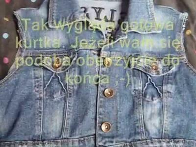 DIY: Jak przerobić starą kurtkę jeansową?