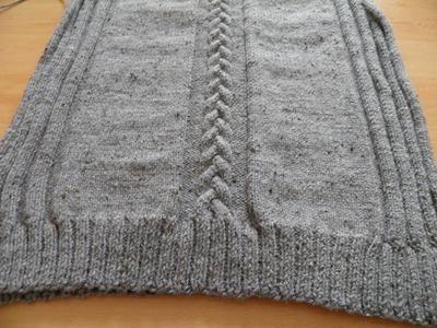 Sweter męski na drutach part 2 przód
