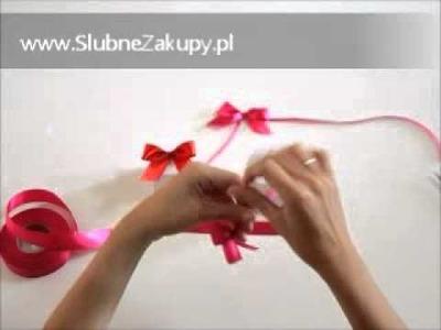 Jak samemu ładnie zawiązać kokardkę- www.SlubneZakupy.pl