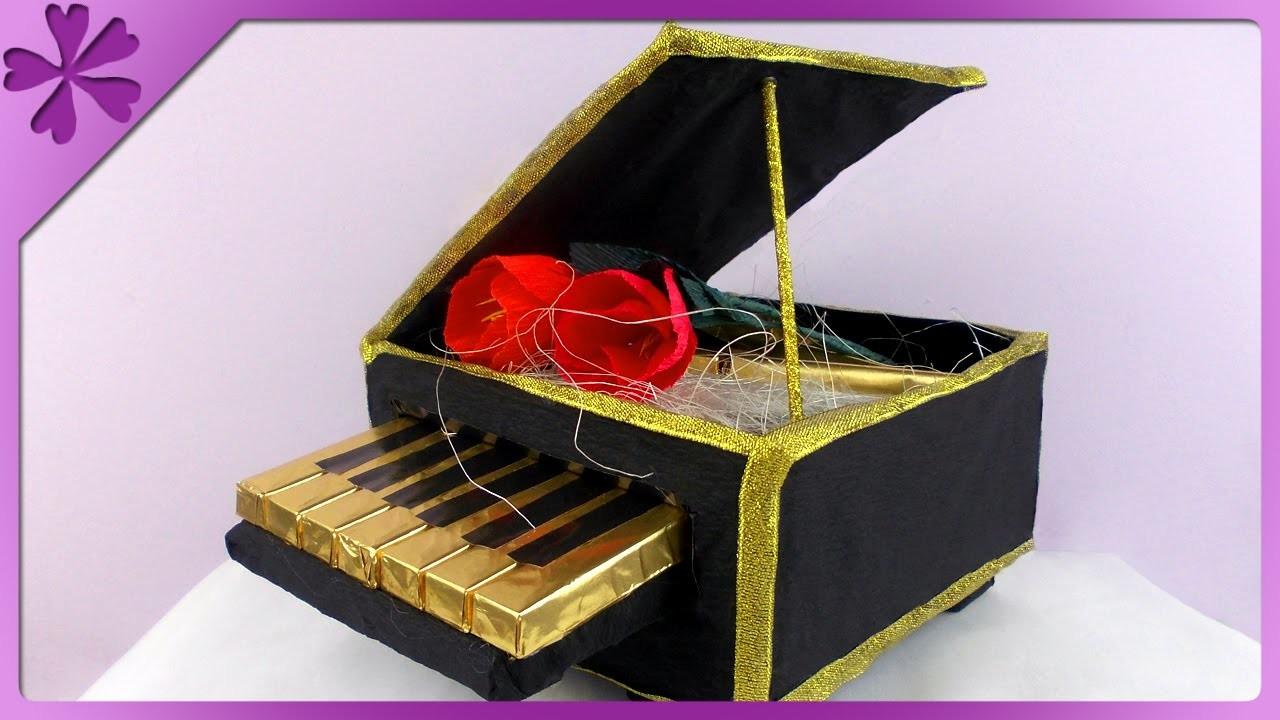 DIY Fortepian z czekoladek. Chocolate bar piano (+ENG Subtitles) - Na szybko #100