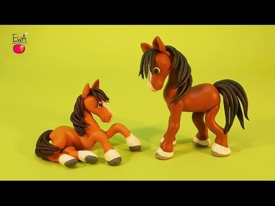 Horse - Konik - by Let's clay with Ewa - polymer clay tutorial