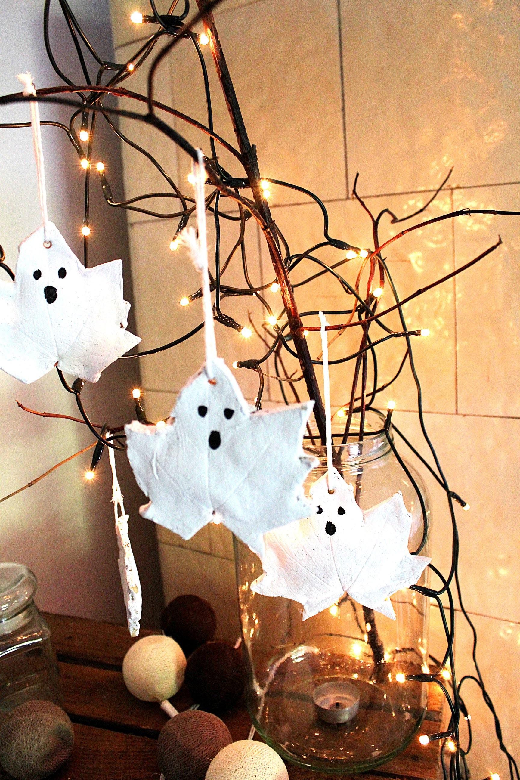 Halloween DIY Duszki z masy solnej