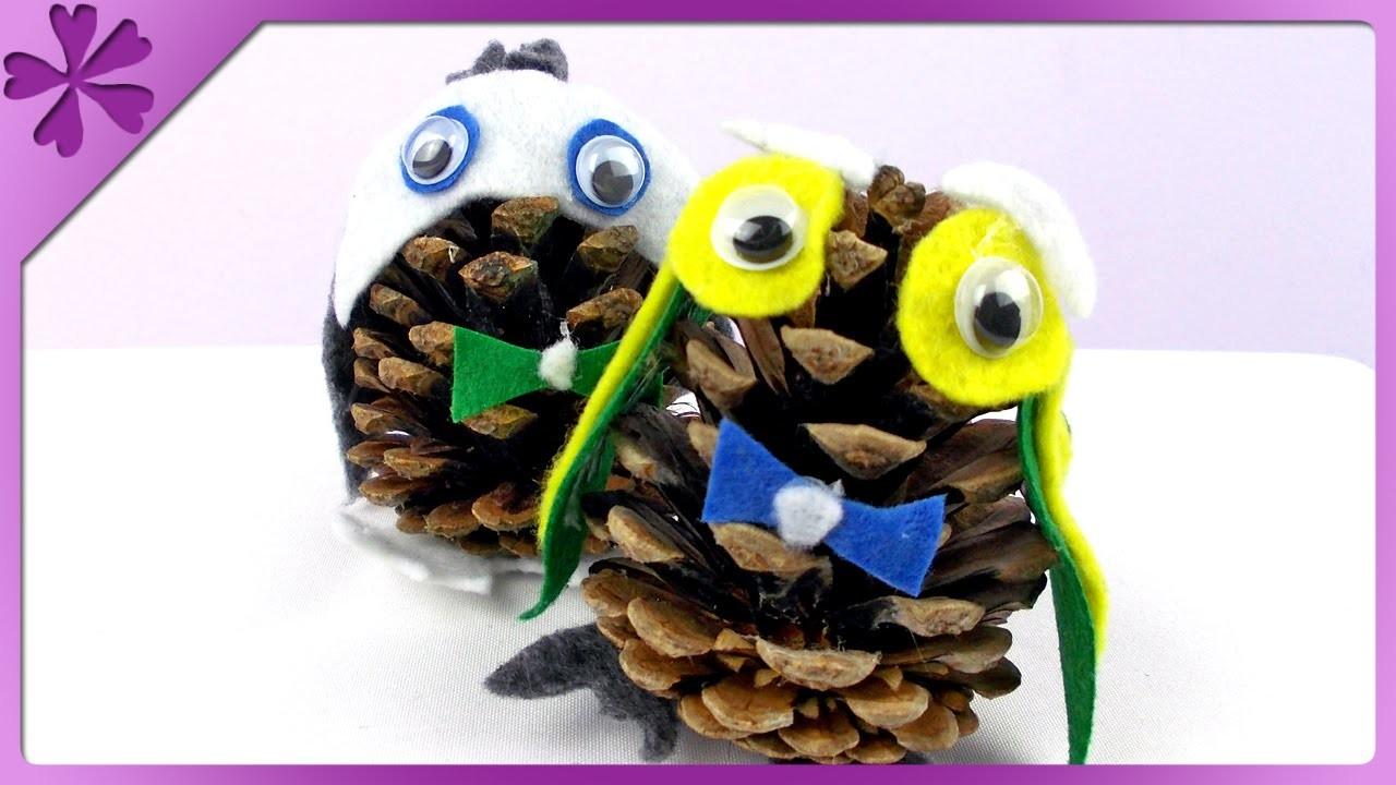 DIY Sowa z szyszki. Pine cone owl (+ENG Subtitles) - Na szybko #138