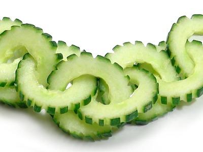 021. Free vegetable carving course cucumber chain. Darmowy kurs carvingu łańcuszek z ogórka