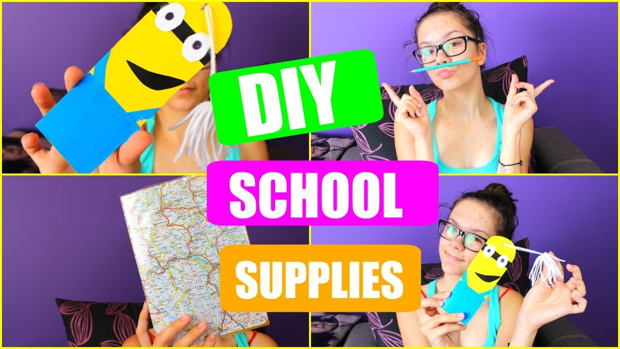 #3BACK TO SCHOOL: Diy school supplies