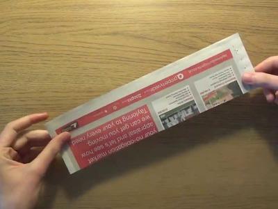 Jak skręcać białe rurki z gazety - papierowa wiklina
