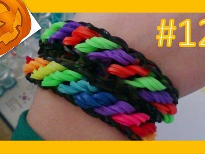 LEKCJA #12 - Gumki Rainbow Loom - MatyldaTV - bransoletki z gumek - halloween rotini - zakręcona