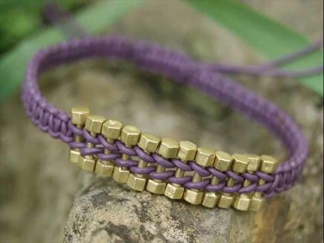 Macrame bracelet tutorial - Bransoletka makramowa She Bijou