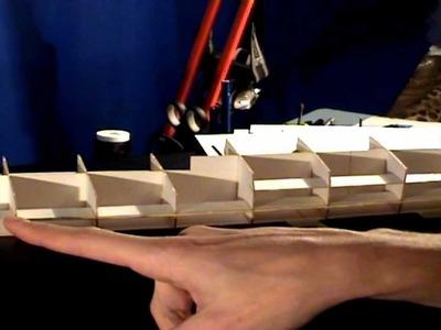 Videorelacja z budowy krążownika ZARA 1:200 ep08. Paper model of the cruiser ZARA tutorial