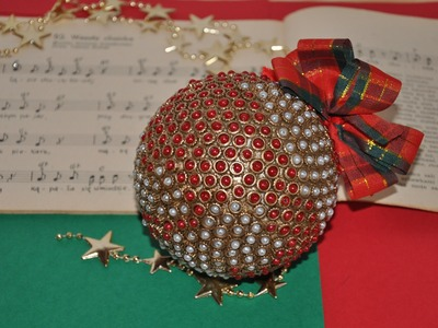 Bombka z makaronu krok po kroku  #  Christmas Ornaments DIY craft