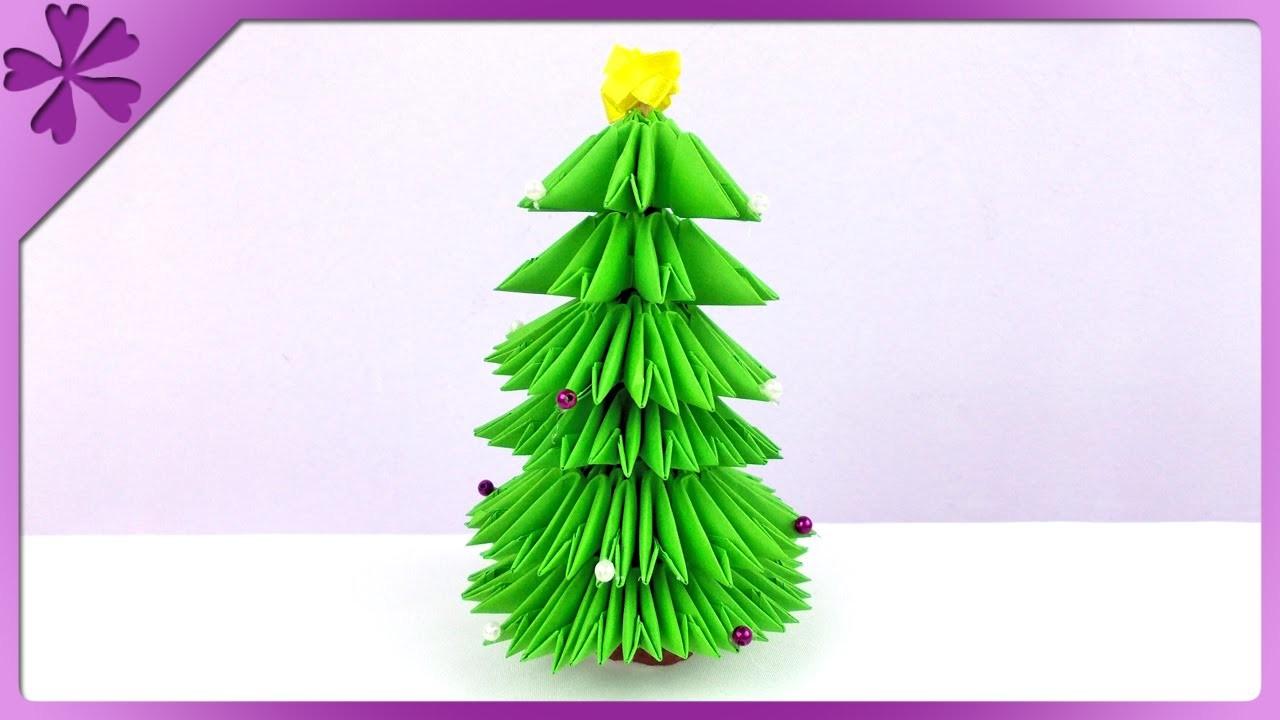 DIY Choinka, modułowe origami. Modular origami Christmas tree (+ENG Subtitles) - Na szybko #149
