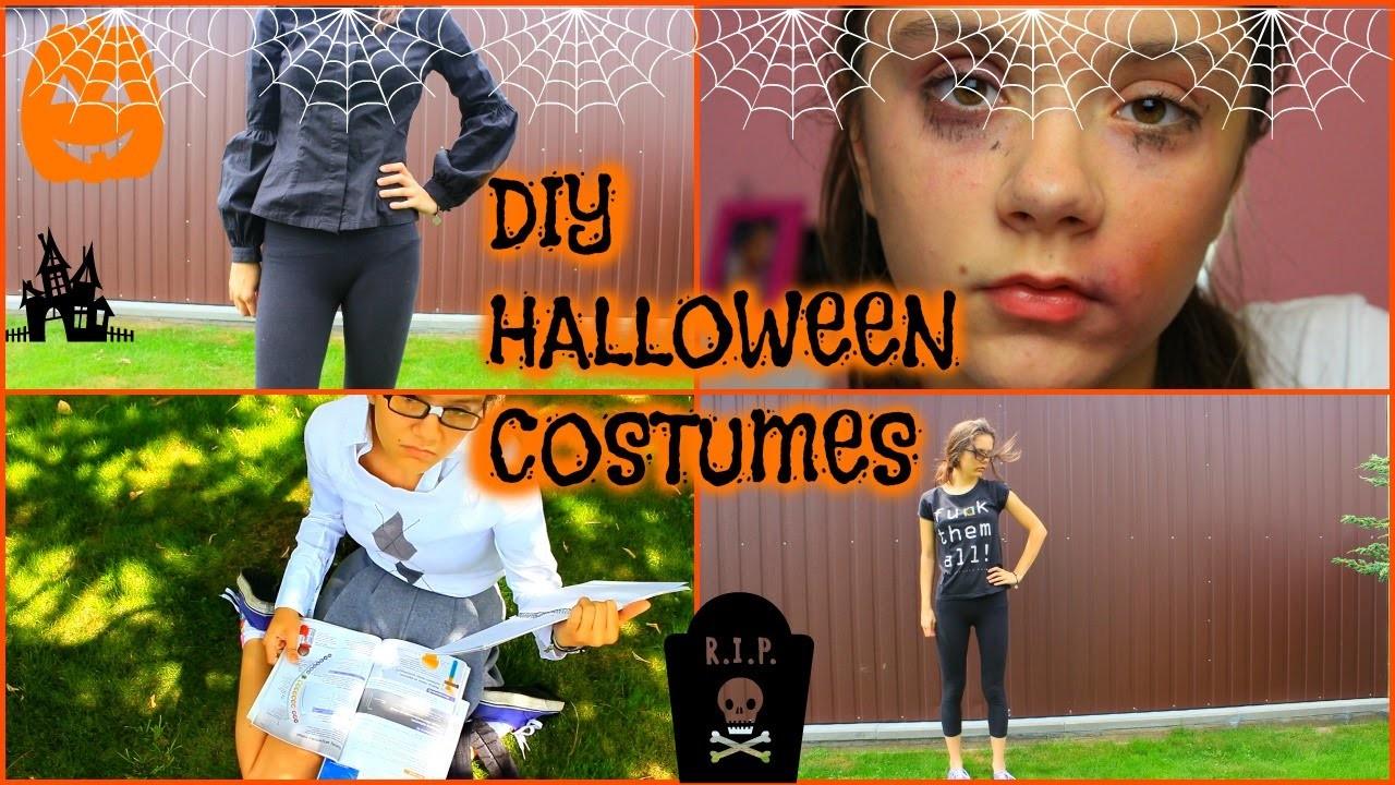 "FAST DIY COSTUMES HALLOWEEN 2015.SZYBKIE ""diy"" kostiumy na halloween 2015"
