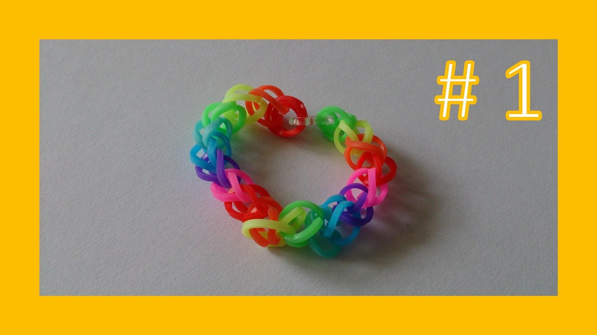 LEKCJA #1 - Gumki Rainbow Loom - MatyldaTV - bransoletki z gumek - bransoletka podstawowa