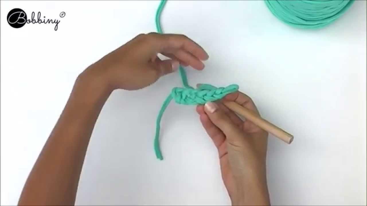 Bobbiny - słupek. double crochet