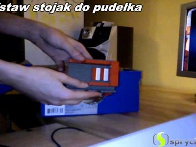 Jak z pudełka po butach i lupy zrobić projektor multimedialny.