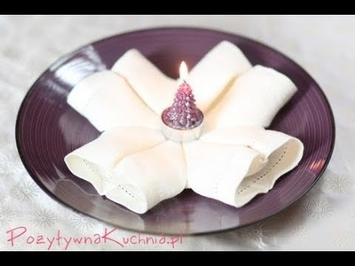 Jak złożyć serwetkę w płatek śniegu | PozytywnaKuchnia.pl